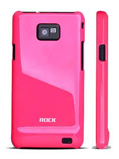 ROCK Nakedshell Colour Case for Samsung I9100 Galaxy S2 - Glossy Pink