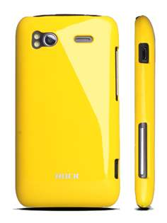 ROCK Nakedshell Colour Case for HTC Sensation - Glossy Yellow Hard Case