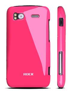 ROCK Nakedshell Colour Case for HTC Sensation - Glossy Pink Hard Case