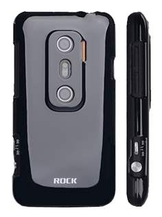 ROCK Nakedshell Colour Case for HTC EVO 3D - Glossy Black