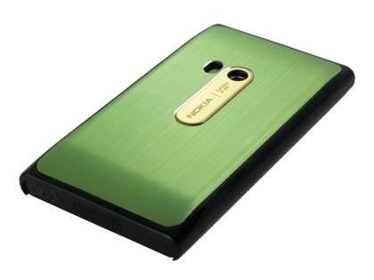 Brushed Aluminium Case for Nokia N9 - Lime Green