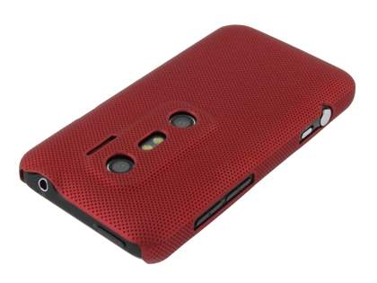 HTC EVO 3D Micro Mesh Case - Burgundy Red