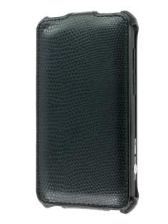 Synthetic Leather Flip Case for HTC EVO 3D - Classic Black