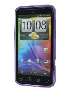 HTC EVO 3D TPU Gel Case - Diamond Purple