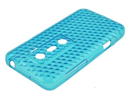 HTC EVO 3D TPU Gel Case - Diamond Blue