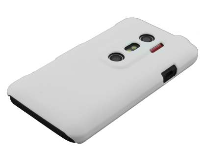 HTC EVO 3D UltraTough Rubberised Slim Case - White