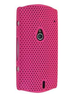 Slim Mesh Case for Sony Ericsson Xperia neo - Hot Pink Hard Case