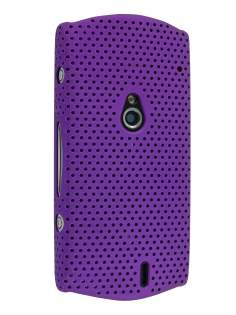 Slim Mesh Case for Sony Ericsson Xperia neo - Purple Hard Case