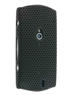 Slim Mesh Case for Sony Ericsson Xperia neo - Black Hard Case