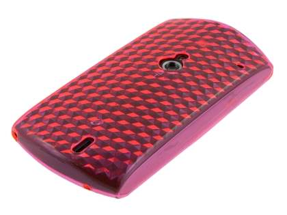 TPU Gel Case for Sony Ericsson Xperia neo - Diamond Pink