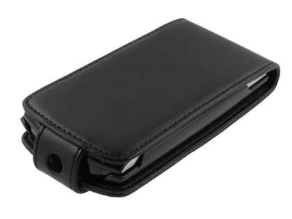 Sony Ericsson Xperia neo Synthetic Leather Flip Case - Black