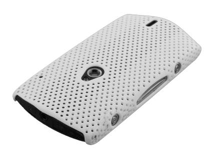 Slim Mesh Case for Sony Ericsson Xperia neo - White