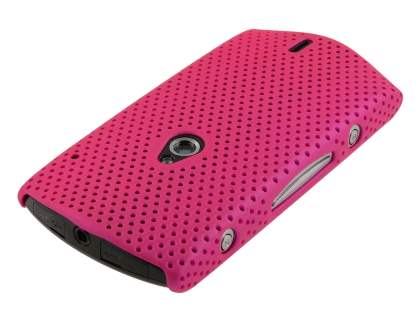 Slim Mesh Case for Sony Ericsson Xperia neo - Hot Pink