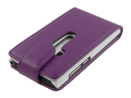 Nokia N9 Synthetic Leather Flip Case - Purple