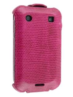 BlackBerry Bold 9900 Slim Synthetic Leather Flip Case - Hot Pink Leather Flip Case