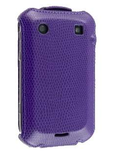 BlackBerry Bold 9900 Slim Synthetic Leather Flip Case - Purple Leather Flip Case