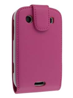 BlackBerry Bold 9900 Synthetic Leather Flip Case - Pink Leather Flip Case
