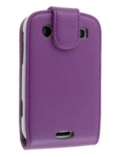 BlackBerry Bold 9900 Synthetic Leather Flip Case - Purple Leather Flip Case