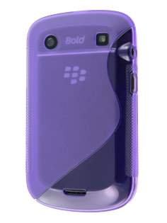 Wave Case for BlackBerry Bold 9900 - Purple Soft Cover