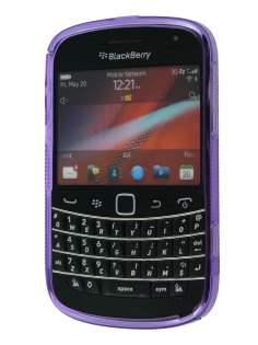Wave Case for BlackBerry Bold 9900 - Frosted Purple