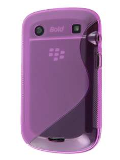 Wave Case for BlackBerry Bold 9900 - Lavender Soft Cover