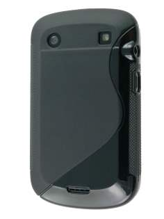 Wave Case for BlackBerry Bold 9900 - Black Soft Cover