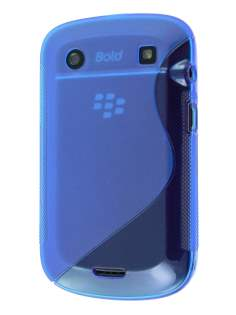 Wave Case for BlackBerry Bold 9900 - Blue Soft Cover