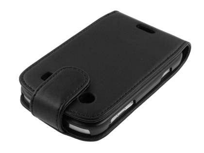 BlackBerry Bold 9900 Synthetic Leather Flip Case - Black
