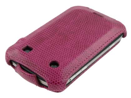 Synthetic Leather Flip Case for BlackBerry Bold 9900 - Hot Pink