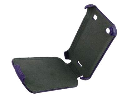 Synthetic Leather Flip Case for BlackBerry Bold 9900 - Purple