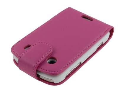 Synthetic Leather Flip Case for BlackBerry Bold 9900 - Pink