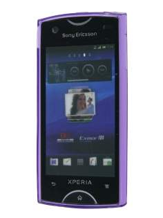 TPU Gel Case for Sony Ericsson Xperia Ray - Diamond Purple