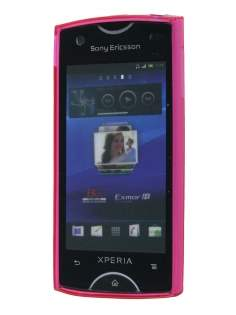 TPU Gel Case for Sony Ericsson Xperia Ray - Diamond Pink