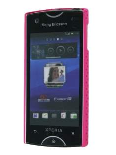 Slim Mesh Case for Sony Ericsson Xperia Ray - Hot Pink