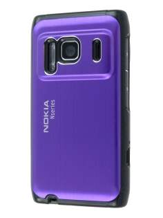 Nokia N8 Brushed Aluminium Case plus Screen Protector - Grape Purple Hard Case