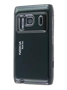 Nokia N8 Brushed Aluminium Case plus Screen Protector - Night Black Hard Case