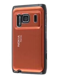 Nokia N8 Brushed Aluminium Case plus Screen Protector - Bronze Hard Case