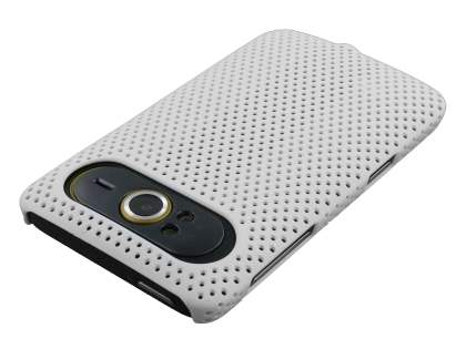HTC HD7 Slim Mesh Case - White