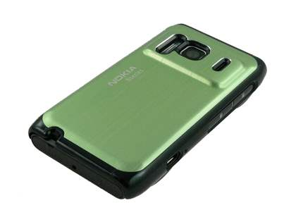 Nokia N8 Brushed Aluminium Case plus Screen Protector - Lime Green