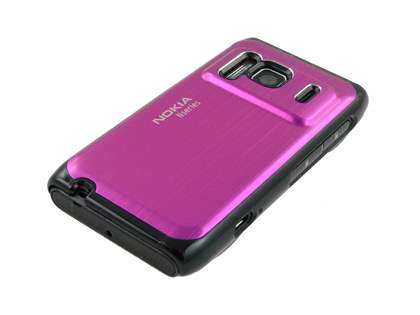 Nokia N8 Brushed Aluminium Case plus Screen Protector - Hot Pink