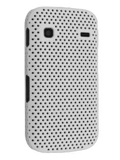 Slim Mesh Case for Samsung Galaxy Gio S5660 - Pearl White Hard Case