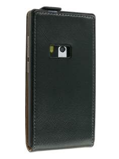 Synthetic Leather Flip Case for Nokia N9 - Black Leather Flip Case