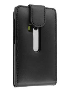 Genuine Leather Flip Case for Nokia N9 - Black Leather Flip Case