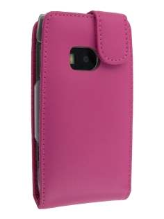 Genuine Leather Flip Case for Nokia X7 - Pink Leather Flip Case