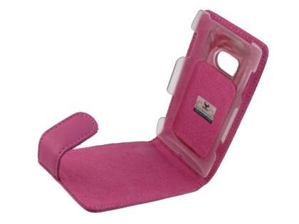 Genuine Leather Flip Case for Nokia X7 - Pink