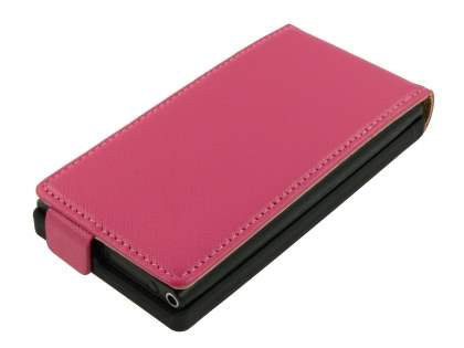 Nokia N9 Slim Synthetic Leather Flip Case - Pink