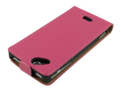 Sony Ericsson XPERIA Arc/Arc S Slim Synthetic Leather Flip Case - Pink