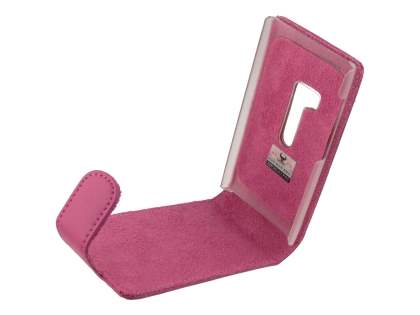 Genuine Leather Flip Case for Nokia N9 - Pink