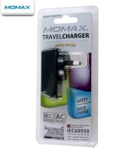 MOMAX 3-in-1 Sync Cable, AC & USB Charger for Apple - Black