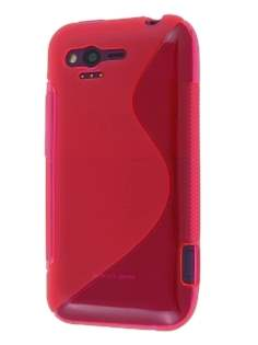 HTC Rhyme Wave Case - Frosted Red
